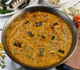 "Image Aal-Sauce ""allipebre"" in einer Paella"
