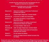 Cartel en color rojo de Nadal al Palau de la Generalitat