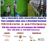 El 26 de mayo en el campo de fútbol de 10.00 h a 13.00 h.