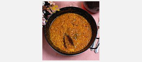 Arroz Caldoso con Bogavante (Rice with lobster)