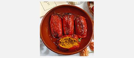 Pimientos Rellenos de Arroz (Peppers stuffed with rice)