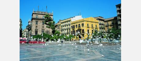Valencia Plaza de la Virgen y Generalitat