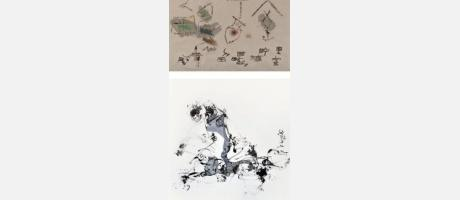 Dibujos con caligrafias chinas modernas
