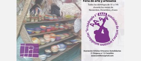 Cartel oficial feria artesanía