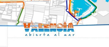 Plano del recorrido de la 15K, Valencia abierta al mar