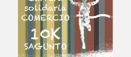 Dibujo con imagen en negativo de un corredor cruzando la meta con un fondo de barras de colores