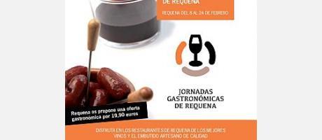 cartel de las jornadas gastronómicas de Requena