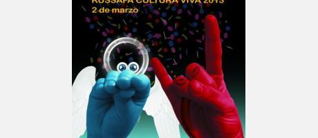 Cartel del Carnaval Multicultural en el barrio de Ruzafa en Valencia