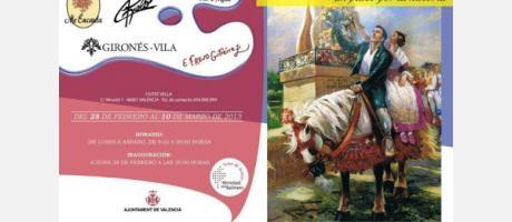 Cartel Expositivo de Vestirse en Fallas. Un paseo por la historia