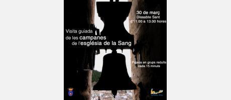 Visita guiada de las campanas de la iglesia de la Sang con motivo de la Setmana Santa Lliriana 2013