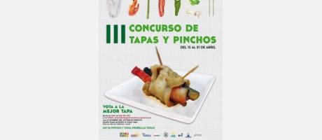 Cartel del III Concurso de Tapas y Pinchos