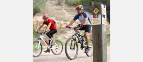 ciclistas btt en ruta