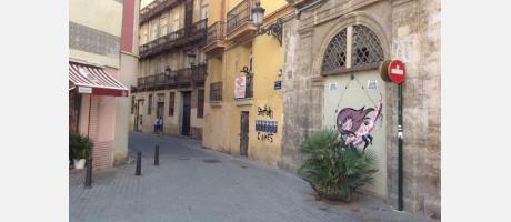 Imagen de uno de los murales