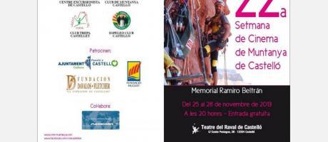 Cartel Oficial XXII Semana de Cine de Montaña, Castellón 2013