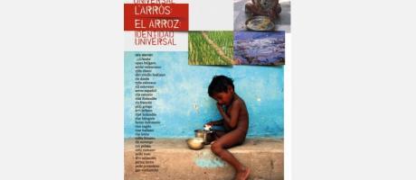 cartel de la exposición arroz, identidad universal