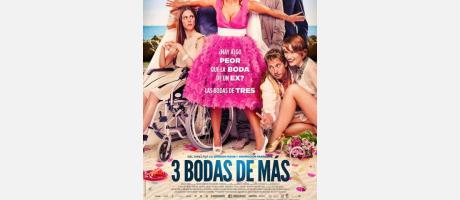"""Cartel de la película """"3 bodas de más"""""""