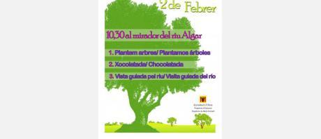 Cartel Día del Árbol en Altea 2014