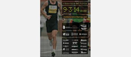 Cartel Media Maratón Ribarroja