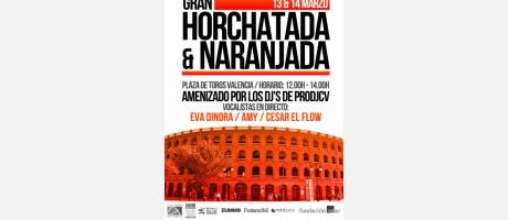 Cartel Horchatada y Naranjada