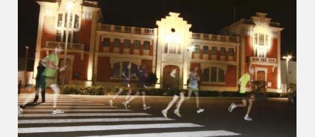 15K Nocturna Valencia 2014, momento de la carrera frente a Tinglado nº 2
