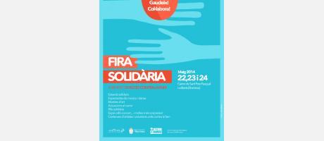 Cartel de la Feria solidaria de los días 22 a 24 de mayo con las actividades