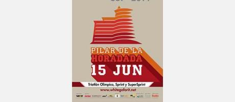 Cartel oficial de la TriWhite de Pilar de la Horadada