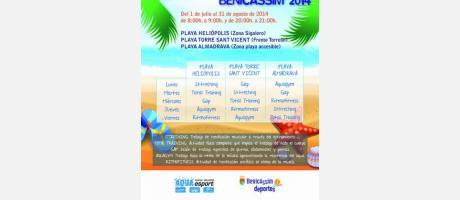 Actividades playa_2014