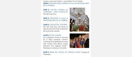 Programa Fiestas Patronales y de Moros y Cristianos de Aielo de Malferit 2014