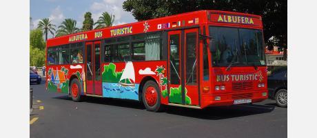 Imagen del autobus a La Albufera
