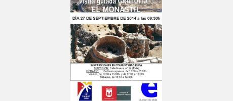 Cartel Visita El Monastil