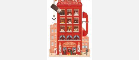 Cartel oficial del Festival de Mediometrajes La Cabina en rojo
