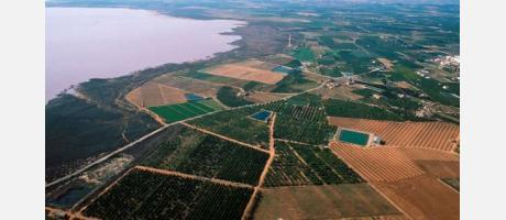 Vista aérea de las lagunas