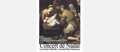 Cartel anunciador del Concierto de Navidad de la Coral Infantil y Juvenil
