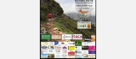 Cartel XV Marcha Cabanes 2015