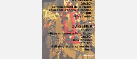 Cartel San Antonio 2015 en Benlloch