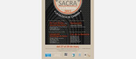 Cartel VIII edición Música Sacra en La Rectoria 2015
