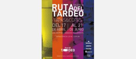 Cartel oficial de la Ruta del Tardeo en diversos colores