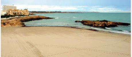 Vistas de la playa de Orihuela