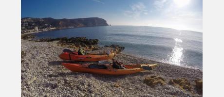 Kayak de mar con Xàbia Activa en Jávea
