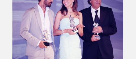 Foto premiados 2014. Hugo Silva, Goya Toledo y Agustín Díaz Yanes