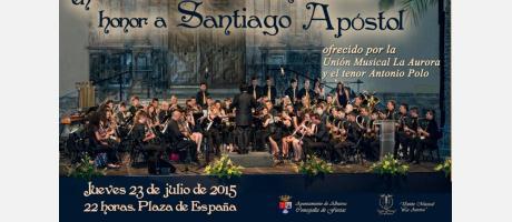 Unión Musical la Aurora junto con el tenor Antonio Polo