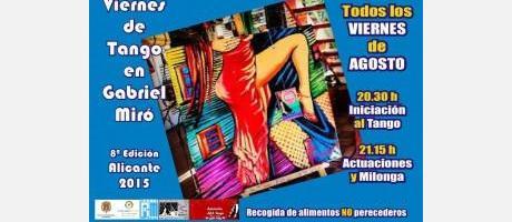 Viernes de Tango en Gabriel Miró 2015