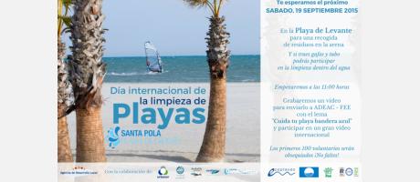 Día Internacional de la Limpieza de Playas en Santa Pola