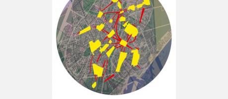 Imagen del plano de la ciudad de Valencia