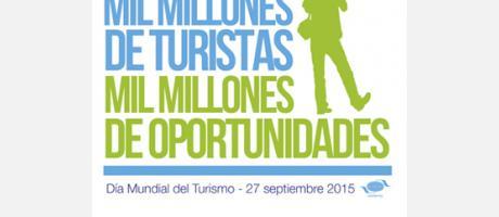 Logo de mil millones de turistas, mil millones de oportunidades