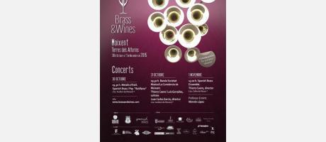 imagen del cartel brass and wines
