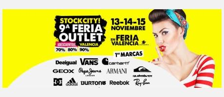 Cartel promocional STOCKCITY Feria outlet
