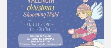 cartel promocional Christmas shopening night 2015