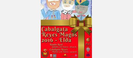 Cartel Cabalgata Reyes Elda 2016