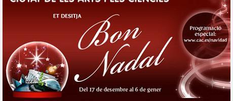 Imagen del cartel del Paseo Navideño en la Ciutat de les arts i les ciències
